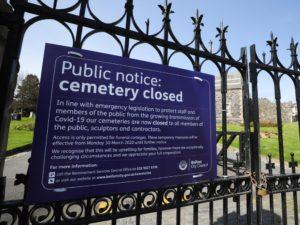 Public notice: Cemetery Closed, Belfast